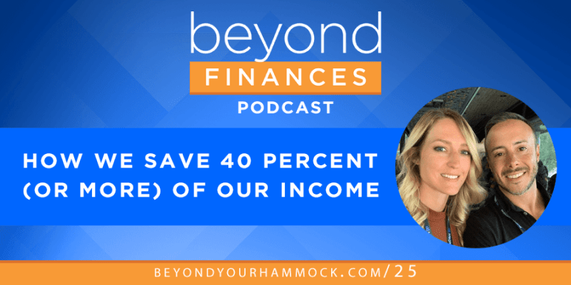 how to save 40 percent of your income