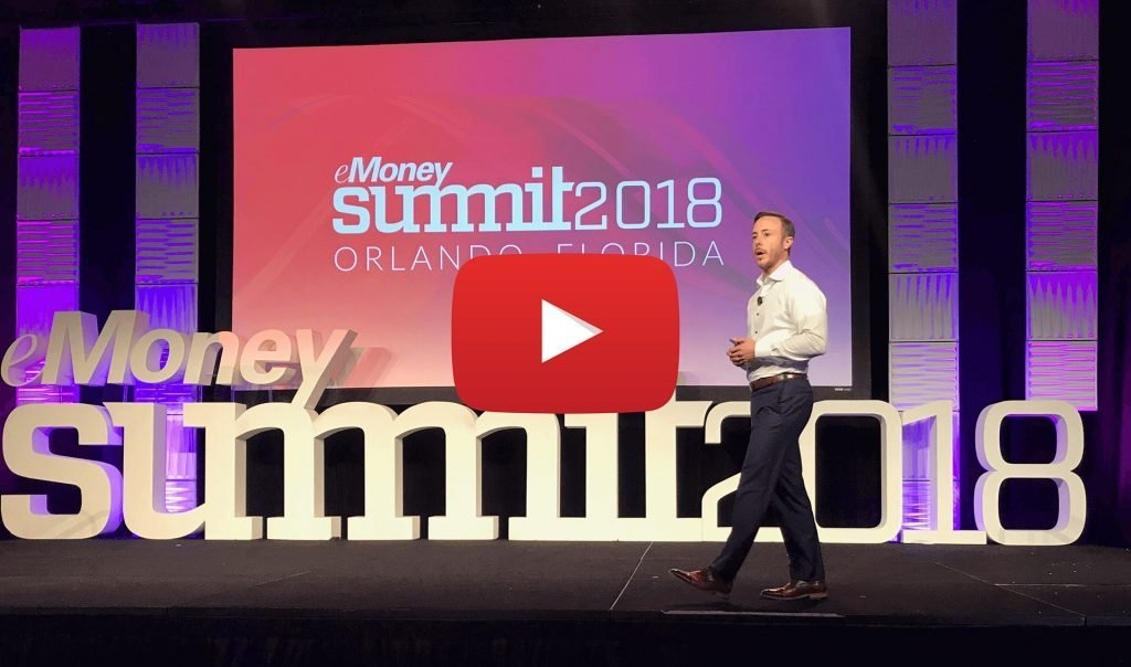 Eric Roberge speaking at Money Summit 2018