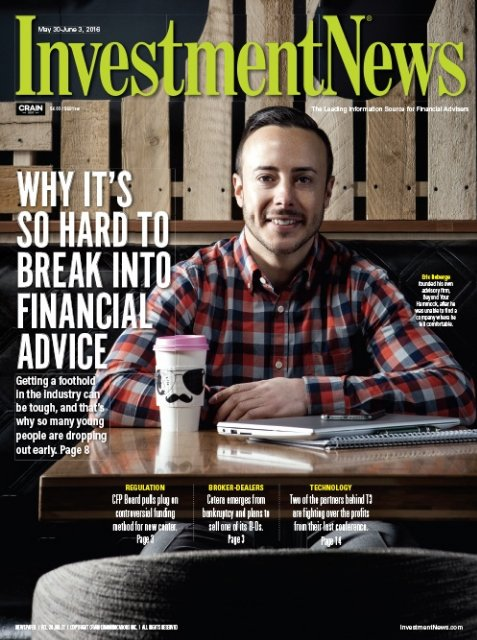 Eric Roberge on the cover of InvestmentNews
